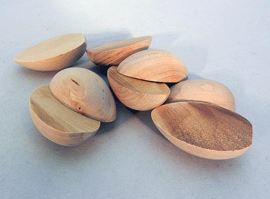 Wooden Split Egg 1 3 8 Quot X 2 Quot Per 25
