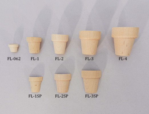 Buy wooden flower pots and wooden pails for crafts | Bear Woods Supply