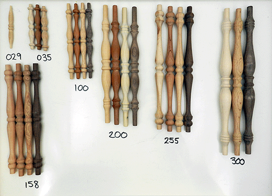 wood spindles, wooden spindle