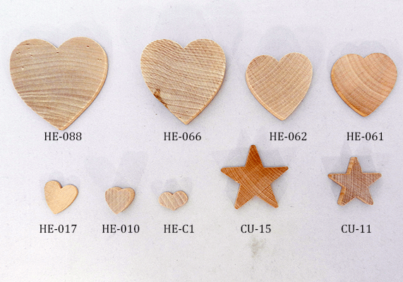 buy wooden hearts and stars