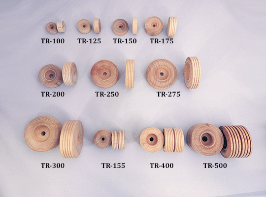 treaded wood toy wheels | Bear Woods Supply
