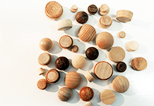 wood plugs, buttons, screwhole covers | Bear Woods Supply