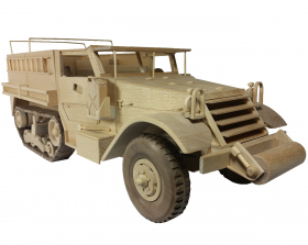 Wood toy pattern half track truck | Toys and Joys