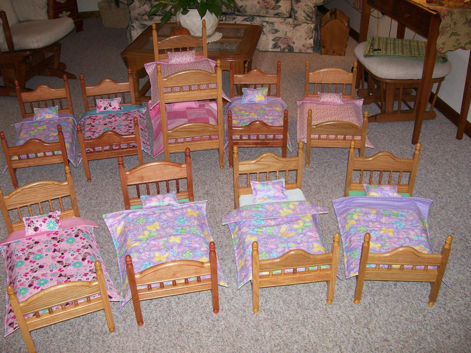 Wooden Spindles to make doll beds