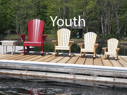 Adirondack Youth Rocking Chair Pattern in AUTOCAD |Bear Woods Supply