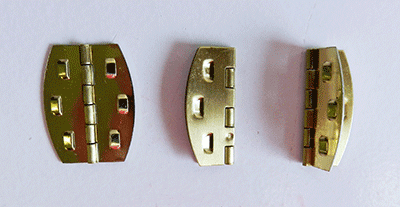 Buy barbed brass plated hinges | Bear Woods Supply