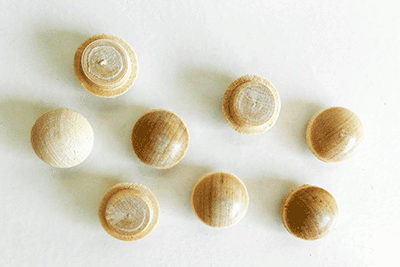 Buy Birch Screw Hole Button Wood Plugs with Tapered Sides | Bear Woods Supply
