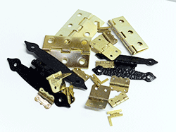 Buy hinges for crafts.  Box hinge, cabinet hinge, brass-plated | Bear Woods Supply