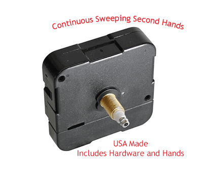 Continuous Sweep Mini Quartz Clock Movements | Bear Woods Supply