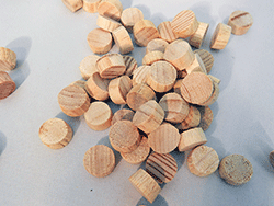 Pine Flathead Wood Plugs | Bear Woods Supply