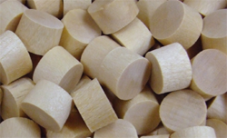 Poplar wood plugs, buttons, screwhole covers | Bear Woods Supply