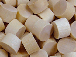 Beech hardwood stair plugs