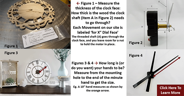 how to select clock mechanisms and hands