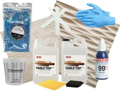 Sculpted panels epoxy kits