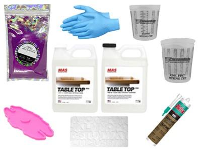 Silicone molds epoxy kits