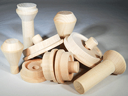 Wooden Train Wheels And Smokestacks Parts For Wood Model