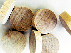 maple wood plugs, buttons, screwhole covers | Bear Woods Supply
