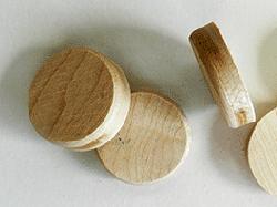 buy sidegrain wood floor plugs in oak and maple | Bear Woods Supply