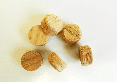 Buy Oak Side Grain Floor Plugs | Bear Woods Supply