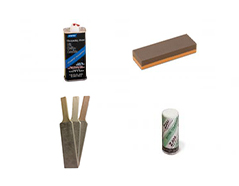 Sharpening and honing kit for carving tools