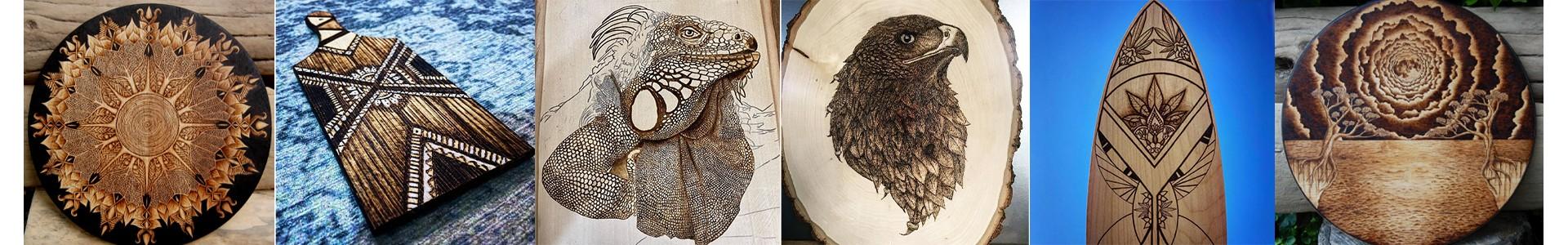 Wood burning art supplies