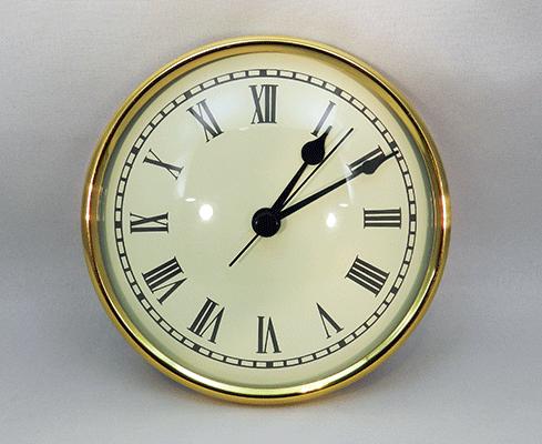 Clock Inserts 4 1 4 Quot 108mm Premium Brass Ivory Roman