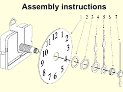 Quartz Clock Hands mounting Instructions | Bear Woods Supply