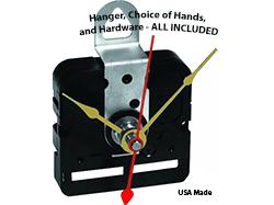 Buy Clock Movements, Hands for Quartz Clocks, Clock inserts | Bear Woods Supply Clock Parts