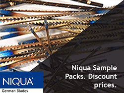 Sample Packs of Niqua Scroll Saw Blades