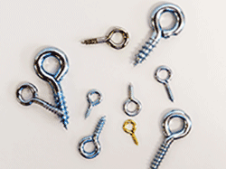 Buy screw eye hooks and screw eyes zinc and brass plated | Bear Woods Supply