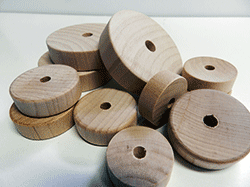 Buy smooth toy wheels, flat faced wooden wheels | Bear Woods Supply