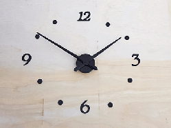 Raised Vinyl clock numbers