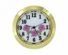 White-Pink Flower Arabic Clock Fitup 1-7/16