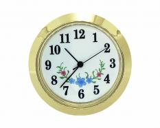 White-Blue Flower Arabic Clock Insert 1-7/16