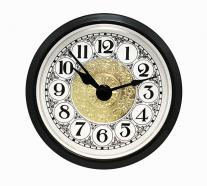 Fancy White Arabic Clock Insert Black Bezel 2-1/4 inch