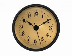 Gold Arabic Clock Insert with Black Bezel 2-7/8 inch