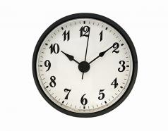 White Arabic Clock Insert Black Bezel 2-7/8inch