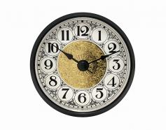 Fancy White Arabic Clock Insert Black Bezel 2-7/8 inch