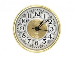 SILENT 3-1/2inch Fancy White Arabic Clock Insert