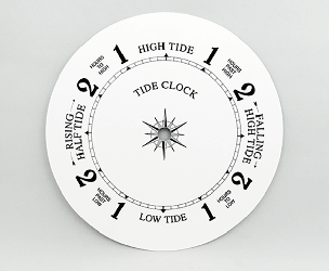 White Tide Clock Dial 8"