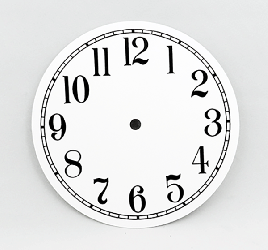 White Arabic Clock Dial 6"