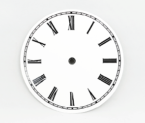 White Roman Clock Dial 6"