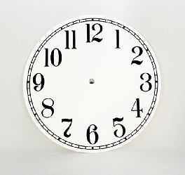 White Arabic Clock Dial 8"