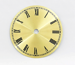 Gold Roman Clock Dial 4-1/2"