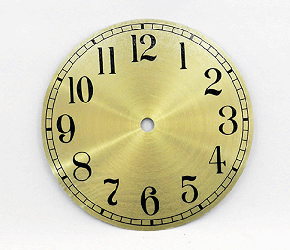 Gold Arabic Clock Dial 6"