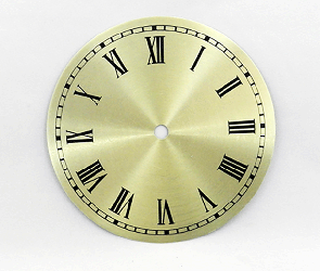 Gold Roman Clock Dial 6"