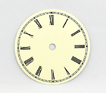 Ivory Roman Clock Dial 4-1/2"