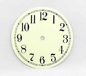 Ivory Arabic Clock Dial 6"
