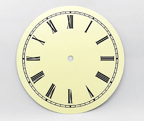 Ivory Roman Clock Dial 7"