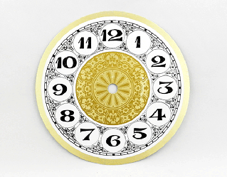 Fancy Arabic Clock Dial 6"